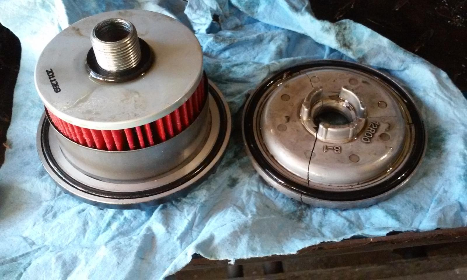 Hetip on '82-83 XS400 oil filter cover - try this if it breaks