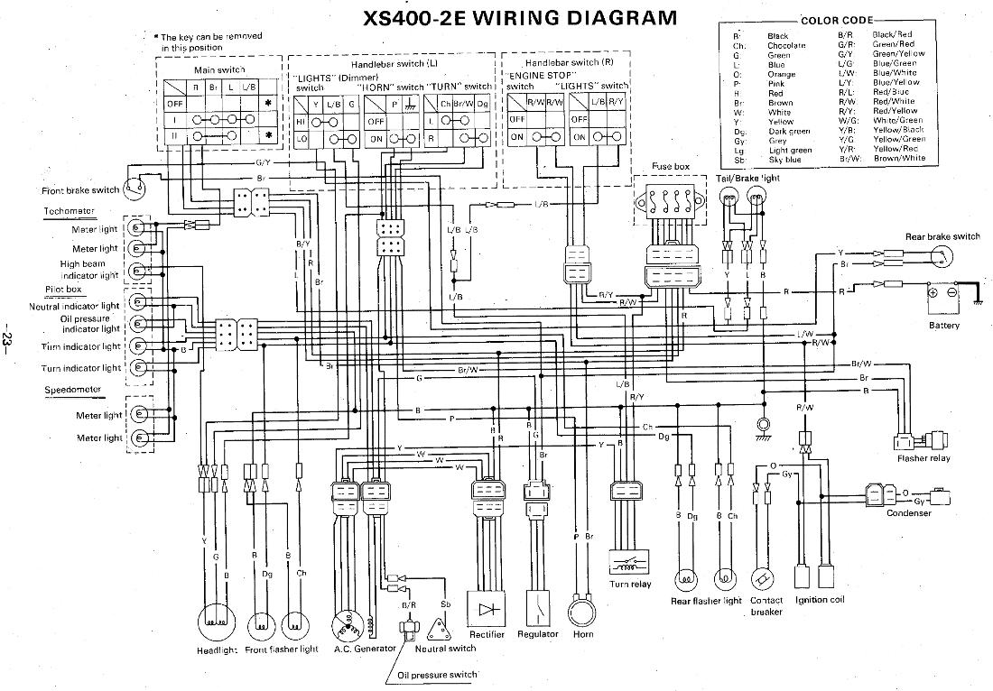 1981 Yamaha Wiring Code - Wiring Diagrams User on