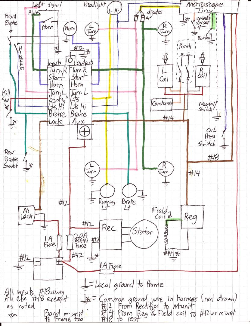 Motogadget Mini Wiring Diagram Services Moto Build Rewiring With M Unit Lock Motoscope Tiny Rh Xs400 Com Sign Speedo