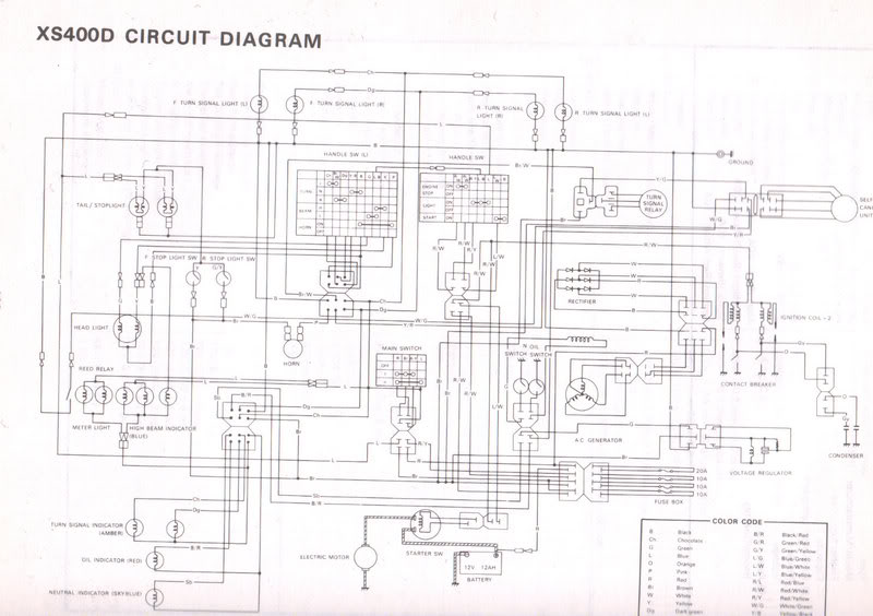 1981 Yamaha Seca Wiring Diagram Wiring Diagram