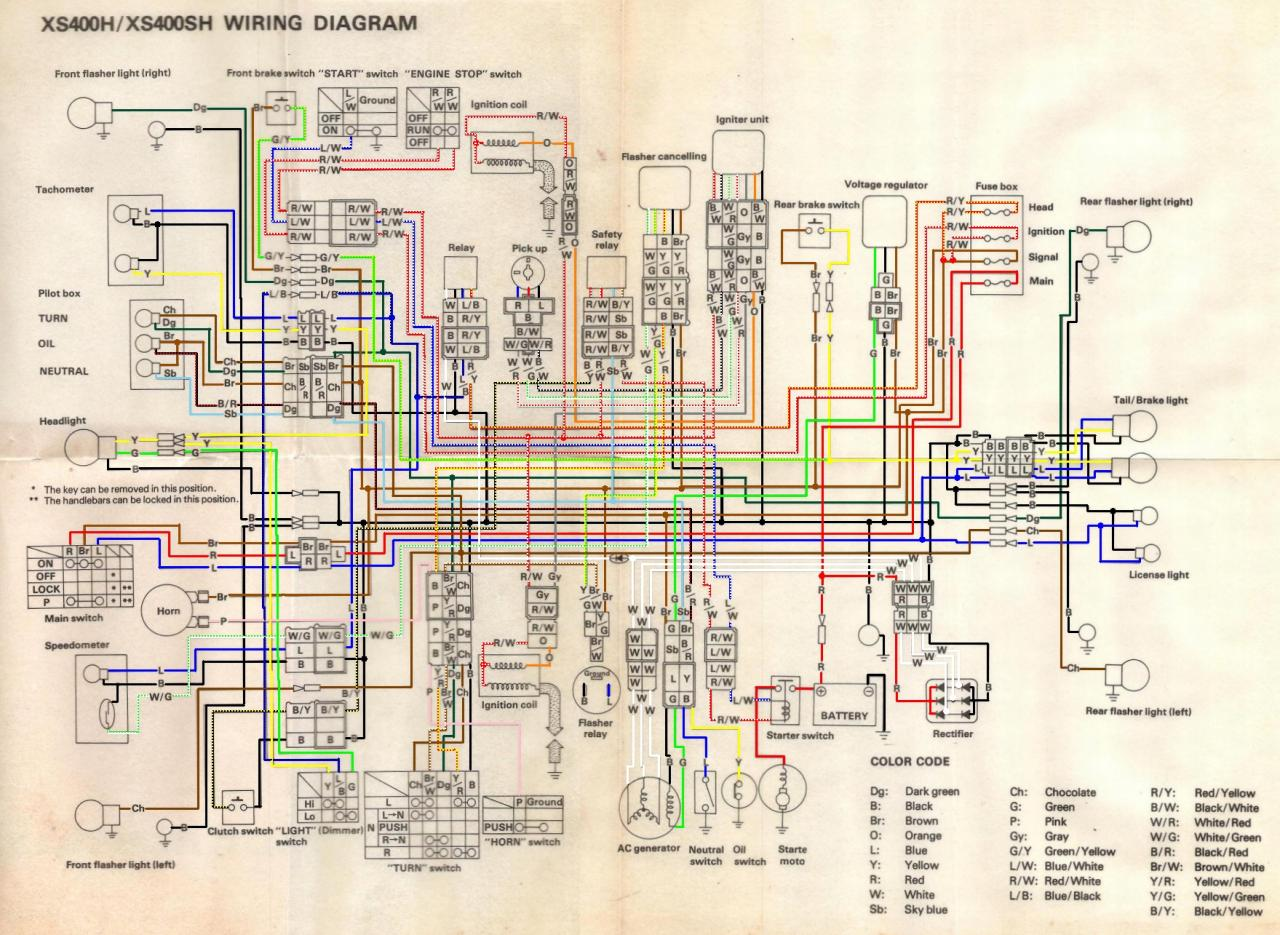 Wiring Diagram 81 Yamaha Xs400 on honda cb350 wiring diagram
