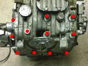 xs400 crankcase bolt locations - bottom
