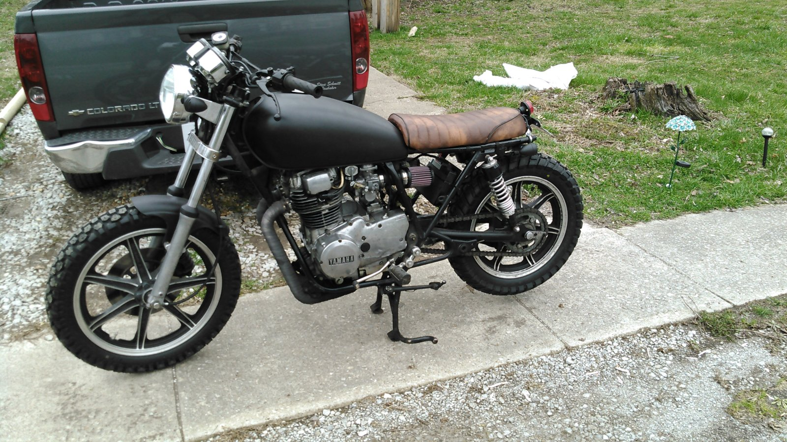 Miraculous Current State Of The Xs400 Scrambler Project Yamaha Xs400 Dailytribune Chair Design For Home Dailytribuneorg