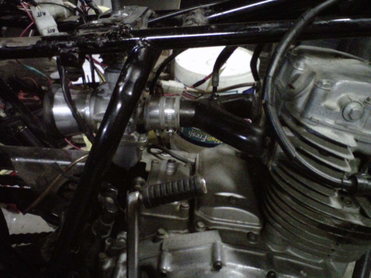My mikuni vm34 round slide single carb conversion   Yamaha
