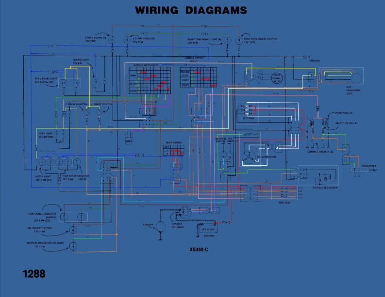 My new XS360 project | Yamaha XS400 Forum Xs Wiring Diagram on