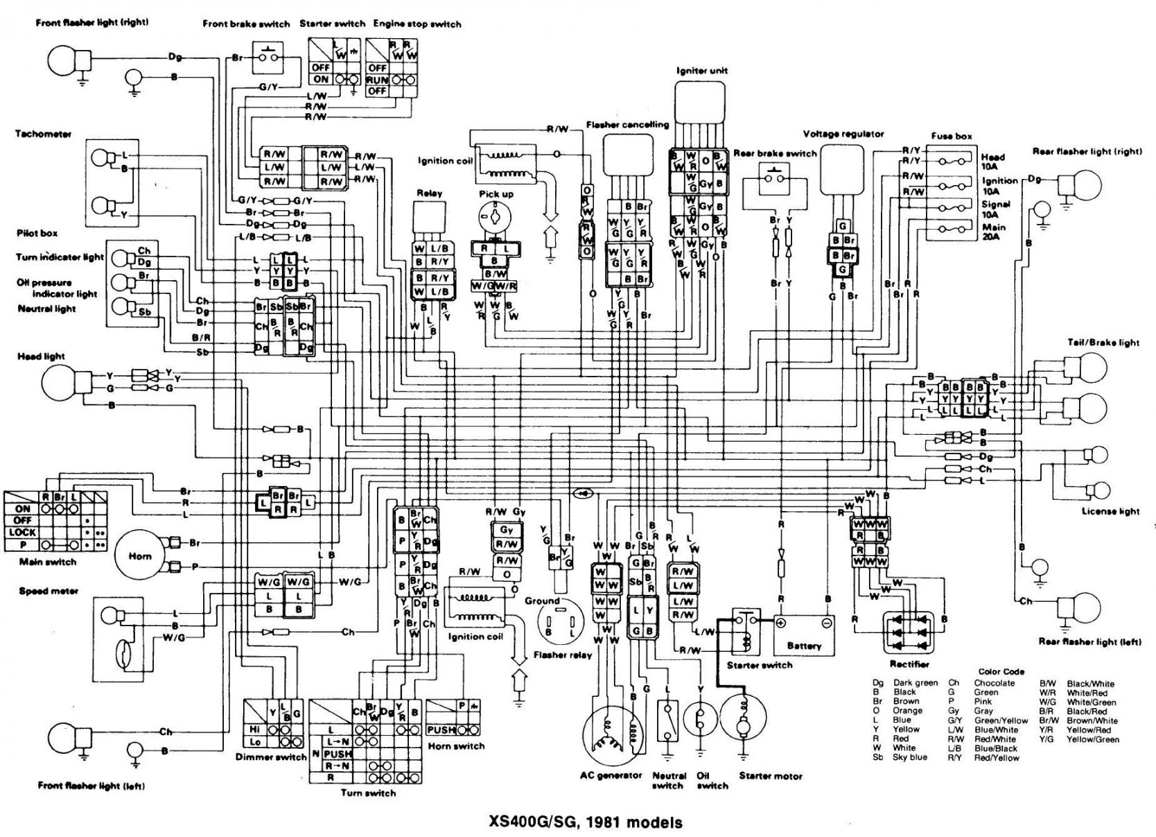 Yamaha Xs400 Wiring Diagrams Forum Staff Diagram