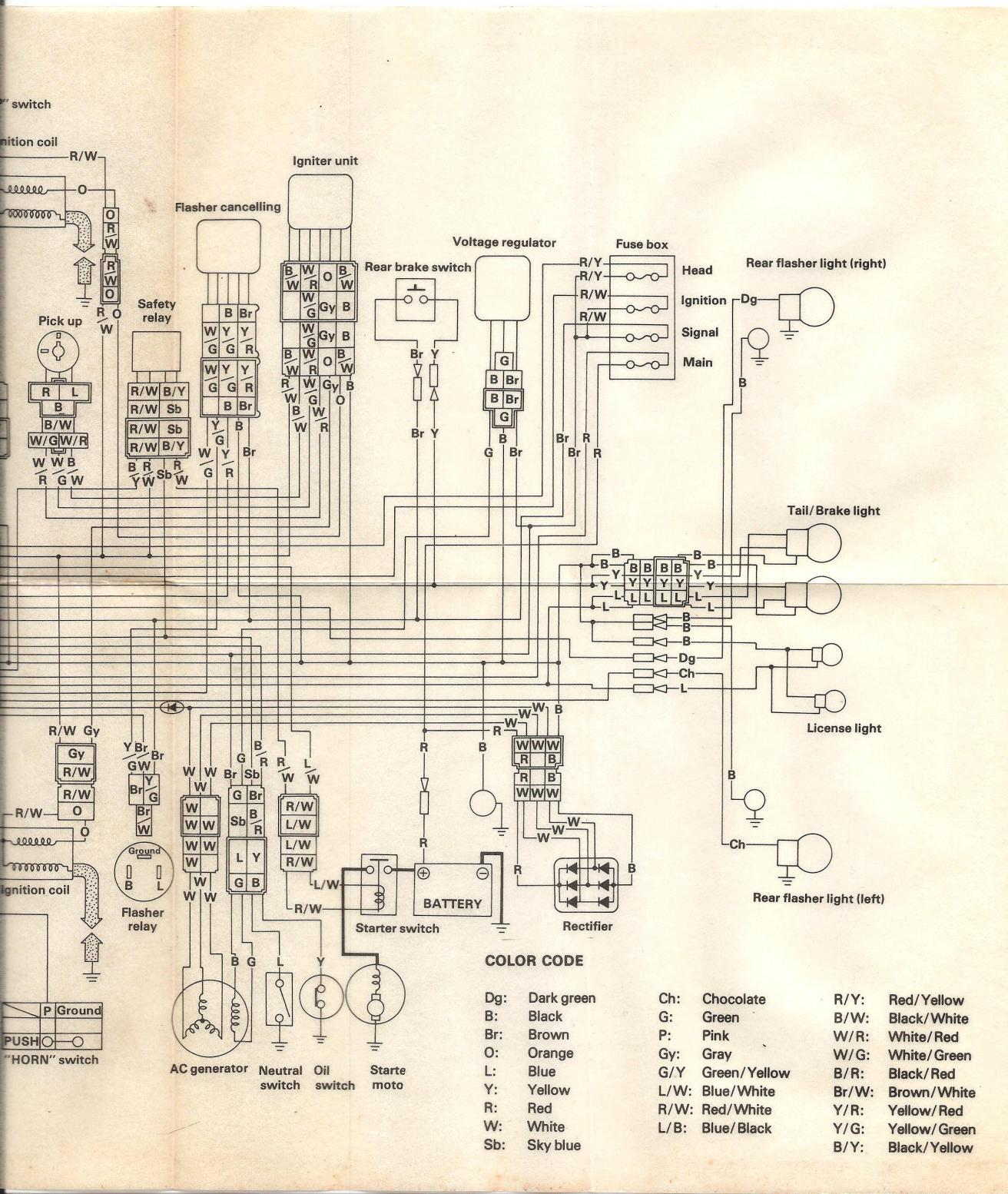 Simple Motorcycle Wiring Diagram For Choppers And Cafe Racers - Collection